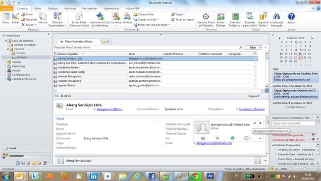 Presença Rica de Lync no Dynamics CRM Online