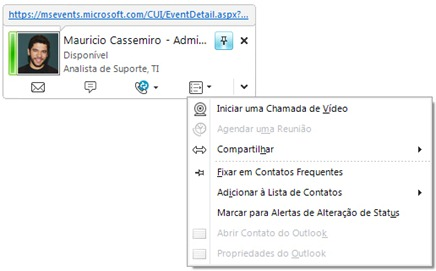 Gerenciando Business Contacts