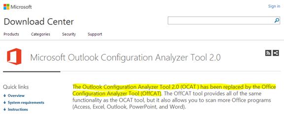 offcat tool o365