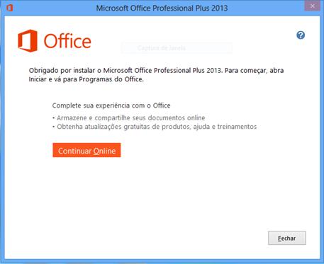 Instalando Office 2013