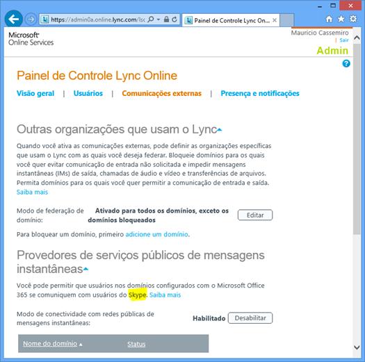 Lync Online Control Panel - Wave 14