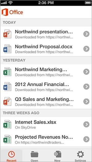 Office Mobile para iPhone