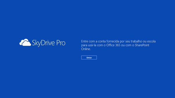 Configurando o SkyDrive Pro App para Windows 8 - 3