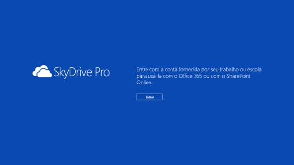 Configurando o SkyDrive Pro App para Windows 8 - 3