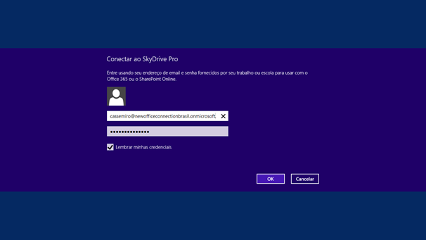 Configurando o SkyDrive Pro App para Windows 8 - 7