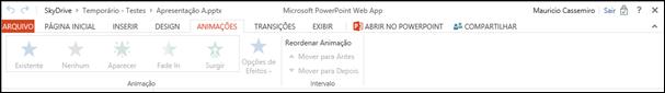 Guia Animacoes PowerPoint Web App