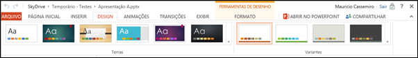 Guia Design PowerPoint Web App