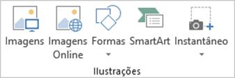 Guia Inserir Excel - Extensão do Grupo Ilustrações