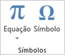 Guia Inserir Excel - Extensão do Grupo Simbolos