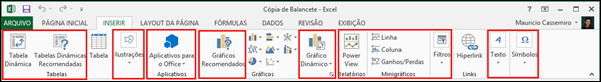 Guia Inserir Excel