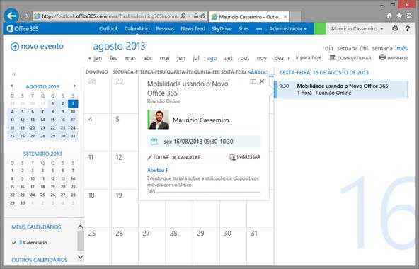 Meeting com Lync Web Browser 2