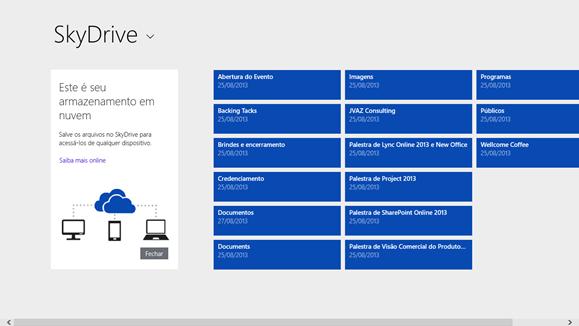 SkyDrive App para Windows 8