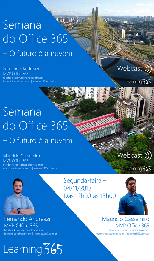 Palestra O futuro é a nuvem - Evento Semana do Office 365