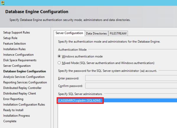 3 - Database Engine Configuration