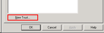 Active Directory Domain and Trusts - New Trust Button