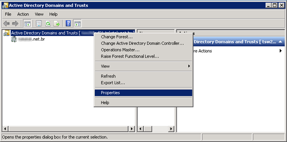 Active Directory Domain and Trusts