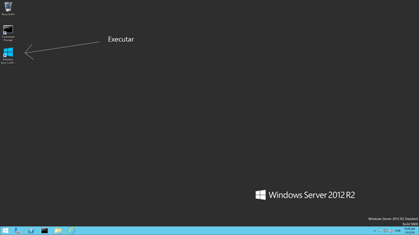 Area de Trabalho - Windows Server 2012 R2 - DirSync Server