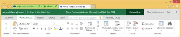 Microsoft Excel Web App 2014