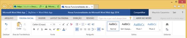 Microsoft Word Web App 2014