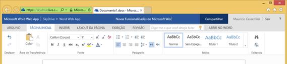 Renomeando um arquivo no Word Web App
