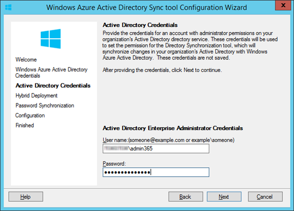 Windows Azure Active Directory tool Configuration Wizard_2