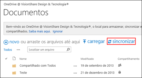 Biblioteca de Documentos - OneDrive for Business