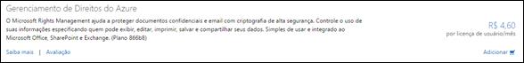 Licença de Direitos do Windows Azure