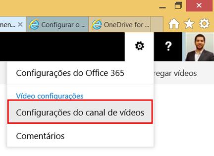 Configurações do Canal de Vídeos