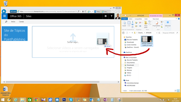 Drag and Drop vídeos - Office 365 Vídeo