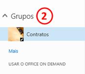 Grupos dentro do OneDrive for Business