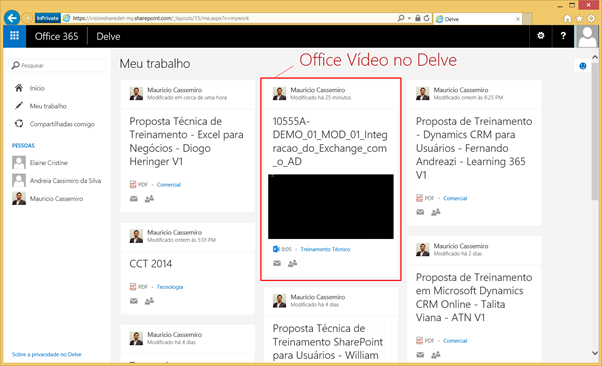 Office Vídeo no Delve