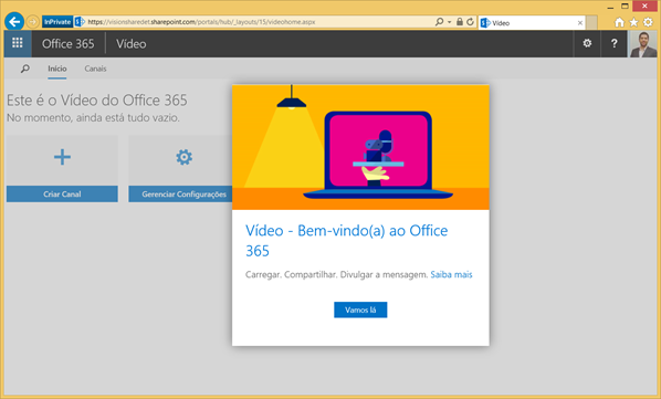 Ponto de Partida - Office 365 Vídeo