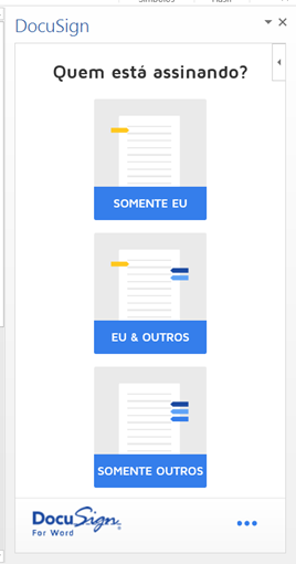 DocuSign instalado no Word 2013