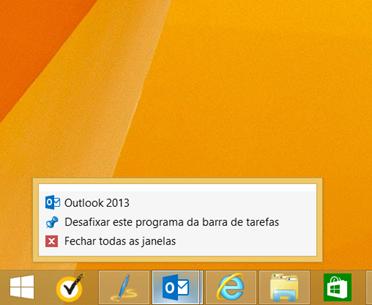 Erro na Lista de Atalhos do Outlook 2013