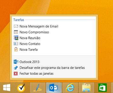 Lista de Atalhos do Outlook 2013