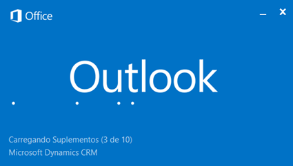 Outlook 2013 carregando pug-in do Dynamics CRM 2015 Zoom