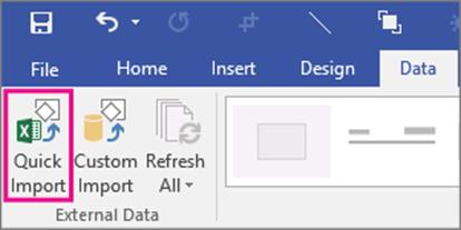 Integração do Excel com o Visio 2016