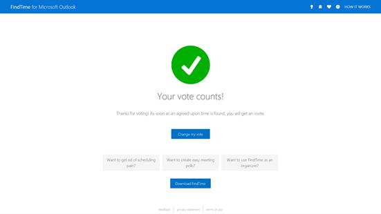 Votação enviada