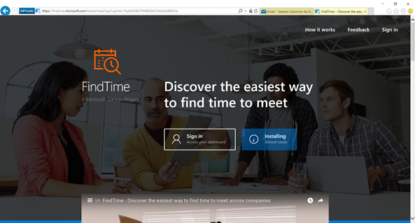 Microsoft FindTime - Inatalling...