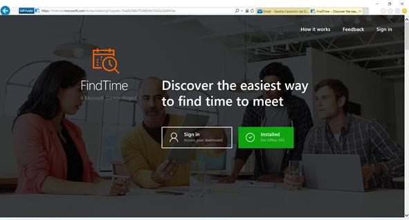 Microsoft FindTime - Inatalled