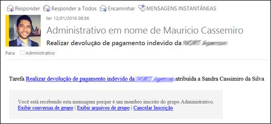 Alerta por e-mail