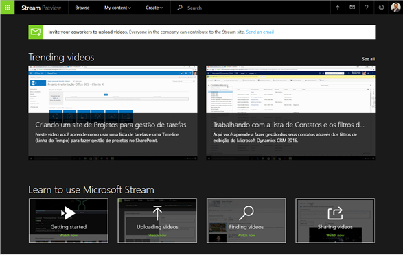 Microsoft Stream Preview
