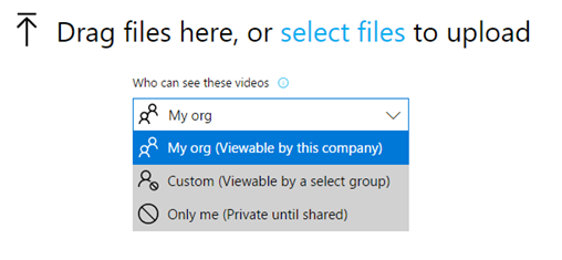Subindo vídeos e limitando o escopo de acesso